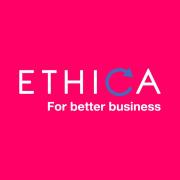 ethica-logo-englanti-slogan-sininen-background
